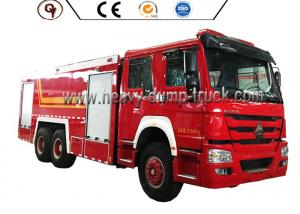 China HOWO 6 By 4 Foam Firefighter Truck With 12000L Water Tank And 2000L Foam Tank on sale