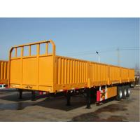 60 Tons Cargo Container Trailer FAW Container Tractor Trailer With High Side Wall