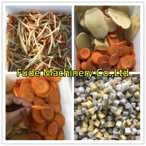 China Onion/potato/carrot/ginger/lemon Slicing Machine/cut Into Slice Cube Shred on sale