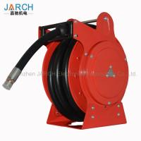 Low Pressure Retractable Extension Cord Reel Hydraulic Drives Anti Static For Fuel Tanker Truck