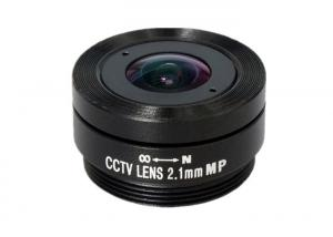 China 1/3 2.1mm F1.6 3Megapixel CS mount 153degree wide angle cctv lens for security camera on sale