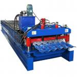 China Prepainted Steel Roofing Glazed Tile Roll Forming Machine With Hydraulic Cutting wholesale