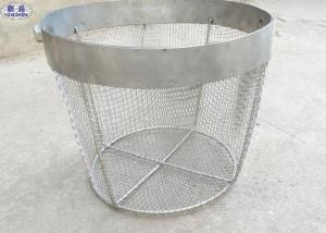 China Round Stainless Steel Wire Mesh Baskets , 304 316 Wire Mesh Filter Basket on sale