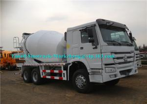 China Whilte Truck Mounted Cement Mixer Machine Concrete Mixer Vehicle Eaton Motor on sale