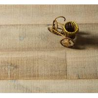 Wide Plank Oak engineered parquet wood flooring with saw mark surface