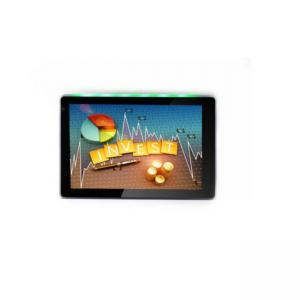 China Meeting Room Control Android OS 7 Inch Touch Screen Glass Wall Mount POE Tablets with 3-colors LED Light on sale