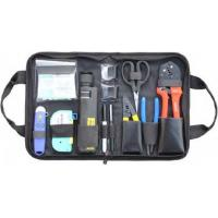 Variety Convenient Black Fiber Optic Hand Tool Bags / Fiber Termination Kit With Zipper