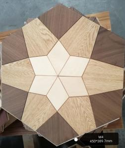 China Hexagon wood engineered parquet flooring with different styles and mixed woods on sale