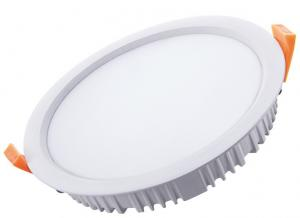China Diameter 225mm Led Recessed Downlight Fixture , Frosted Cover Indoor Ultra Thin Led Downlights on sale