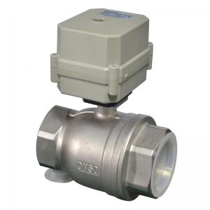 China NSF61 2 way 2 inches stainless steel motorized valves on sale