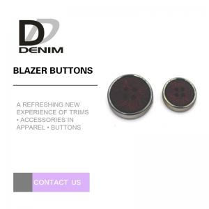 China Fashion Round Blazer Coat Buttons With Silver Metal & Plastic Material Combination Button on sale