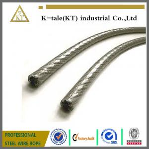 China Plastic Coated PE PVC Covered Stainless Steel Rope on sale