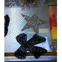 China Hot fix rhinestone patch star shape iron on patch with crystals on sale