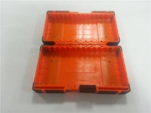 China Portable Low Volume Custom Plastic Moulding Orange Toolbox Comfortable Handle on sale