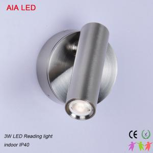 China Silver brushed Rotate with switch modern bedside LED wall lampt/led reading lamps for hotel rooms on sale