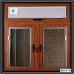 Hot! aluminium window manufacturer, wood color aluminum profile for sliding window