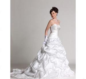 China Ball Gown Sweetheart Chapel Train Taffeta Wedding Dress (HSX1251) on sale