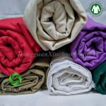 Manufactary 100% GOTS certifide Organic Cotton Twill Solid Fabric for quilts 30NE*30NE