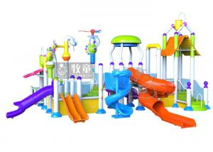 China Closed Molded Spray Water Park Outdoor Water Play Equipment Custom Dimension on sale