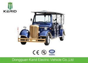 China 11 Seater Electric Vintage Sightseeing Car With 7.5KW Traction Performance Motor on sale