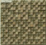 teja de mosaico de cristal de piedra natural brillante de la tira de 23x23m m para la decoración de la pared