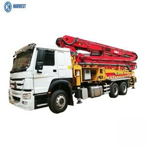 China 1580mm Filling Height 130m3/H HB39K 39m Truck Mounted Concrete Pump on sale