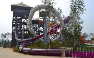 China Fiberglass Mini Slide Aqua Park Equipment For Amusement Park SGS Certificate on sale
