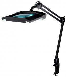 China Antistatic Soft Cool Led Magnifying Lamp 360 Degrees Rotary Lens Head on sale