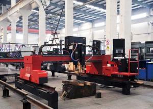 China 3000X8000 Gantry Type CNC Plasma Cutting Machine 1 Gas Torch 1 Plasma Torch on sale