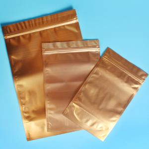 China Plastic Zipper Coffee Packaging Bags , Three Layer Laminated Aluminium Bag For Tea on sale