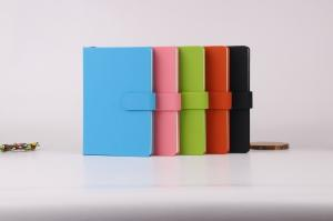 China Soft leather cover debossed notebook on sale