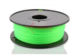 China Ultimaker / Mendel Green 3D Printer PLA Filament 1.75 MM , Plastic Filament Spool on sale