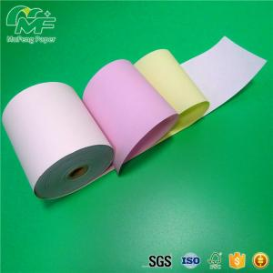 China Aseptic 3 Layers Carbonless Copy Paper Blue Image 100% Virgin Wood Pulp on sale