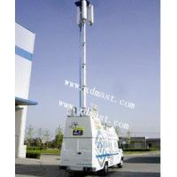 CCTV Telescopic Mast And 8m Vertical mounted Telescopic Tower And PTZ Tower