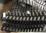 High Performance Excavator Rubber Tracks , Black Custom Rubber Tracks