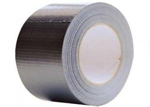 China Silver High Bond Cloth Duct Tape 70 Mesh For Packaging / Sealing on sale