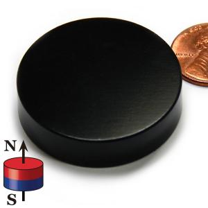 China Kellin Neodymium Magnet Disc Black Epoxy Coated NdFeB Magnet Disk Magnetic Cylinder on sale