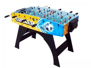 China Color Graphics Design 4 FT Soccer Table , New Style MDF Indoor Football Table on sale