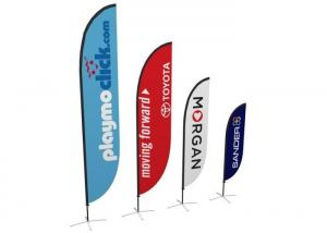 China Beach Teardrop Advertising Banners Anti - Corrosion Environmental Customized Size on sale