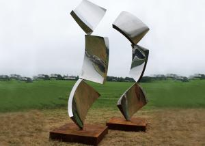 China Contemporary Metal Stainless Steel Outdoor Design Sculpture Abstract on sale
