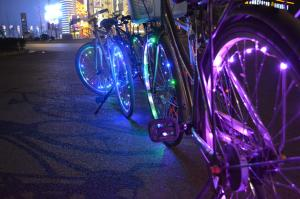 China Mini LED Bicycle Wheel String Lights with Rechargeable Option 2015 NEW Arrival on sale
