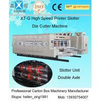 Cardboard Paper Flexo Sticker Printer Slotter Machine With Feeding And Printing
