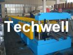 PLC Controlling System 0.8 - 1.2 mm 4KW Floor Deck Roll Forming Machine
