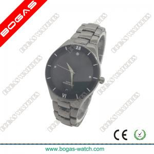 China Gun Color Metal Band Men Watches with Roman Numeral Dial on sale