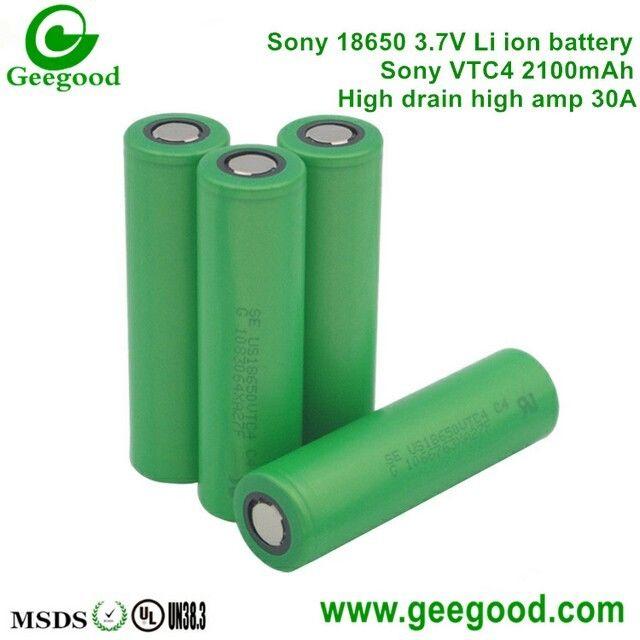 High Amp Battery >> Sony Vtc4 Vtc5 Vtc6 2100mah 2600mah 3100mah 30a Max 60a High Amp
