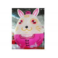 Custom Large Inflatable Moving Cartoon Characters Animal Rabbit For Kids