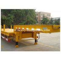 Low Bed Trailers in Hydraulic Mechanical Suspension Yellow Color And Fuwa Axles