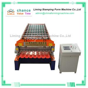 China Aluzinc Roof Panel Roll Forming Machine 25m/min 23 Steps on sale