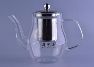 China 700Ml Volume Heat Resistant Drinking Glasses Teapot With Stainless Filter And Lid on sale