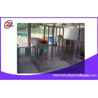 China High speed RFID card reader full height turnstile for station entrance on sale